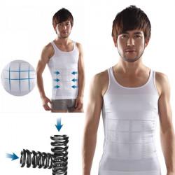 Mænds Belly Fatty Slankende Krop Shaper Vest Shirt Korset Undertøj