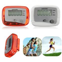 Mini Digital LCD Kör Steg Pedometer Gångavstånd Kaloriräknare