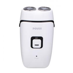 Povos PQ3100 Dual-bladet Rotary Heads Barbermaskine Hvid Elektrisk Razor