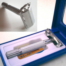 Traditionell Säkerhet Double Edge Blade Shave Rakning Rakapparat Spegel