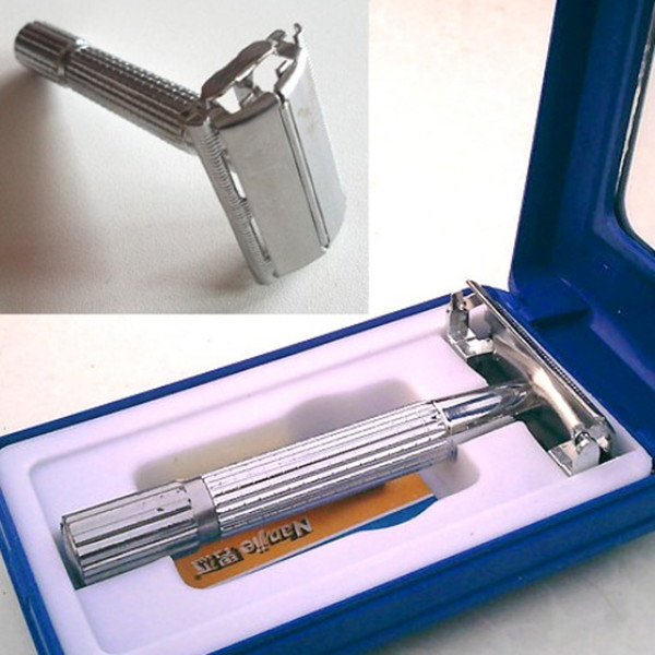 Traditional Safety Double Edge Blade Shave Shaving Hair Razor Mirror Shavers & Hair Removal