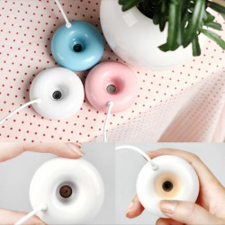 USB Timing Mini Donuts Luftfugter Air Mist Atomizer Purifier