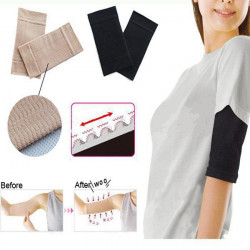 Ultra-Thin Wave Arm Bantning Shapewear Fettförbränning Massage Sleeve