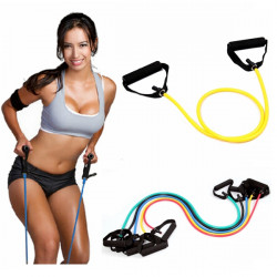Yoga Exercise Elastic Fitness Resistance Band Rope Tubes