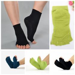 Yoga Strumpor Bomull Sport Motion Pilates Massage Sock