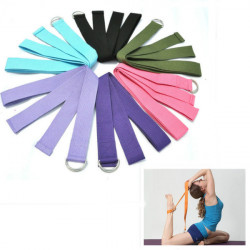 Yoga Stretch Strap D-ring Bälte Stretching Band