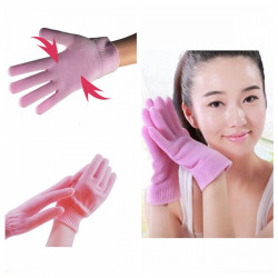 1 Pair Pink SPA Gel Moisturizing Hand Gloves Skin Whitening