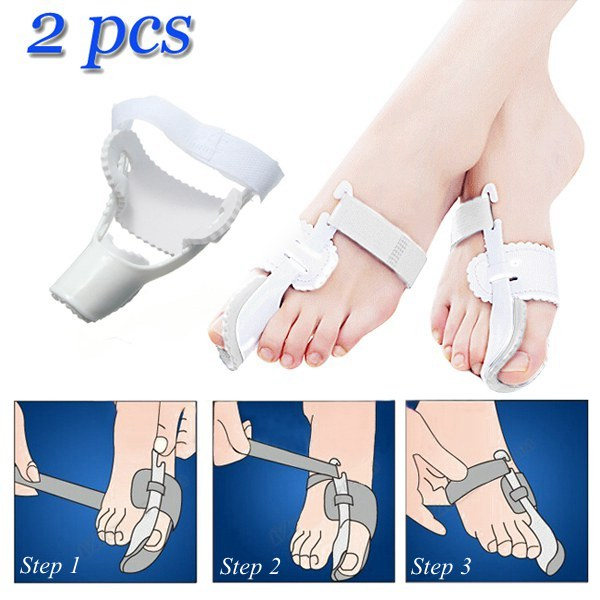 2 pcs Hallux Valgus Big Toe Bunion Straightener Corrector Skin Care