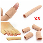 3PCS Gel Fabric-Covered Toes Fingers Tube Bunion Protector Calluses Skin Care
