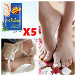 5 Packs AFY Dead Skin Removal Whitening Exfoliating Peeling Foot Mask Skin Care