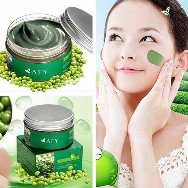 AFY Mung Bean Ansiktsmask Krymper Porer Blekning Oil Control Hudvård