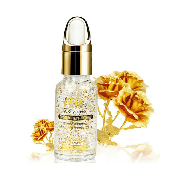 A QIONG 24K Gold Foil HyaluronicAcid Moisturizing Whitening Essence Skin Care