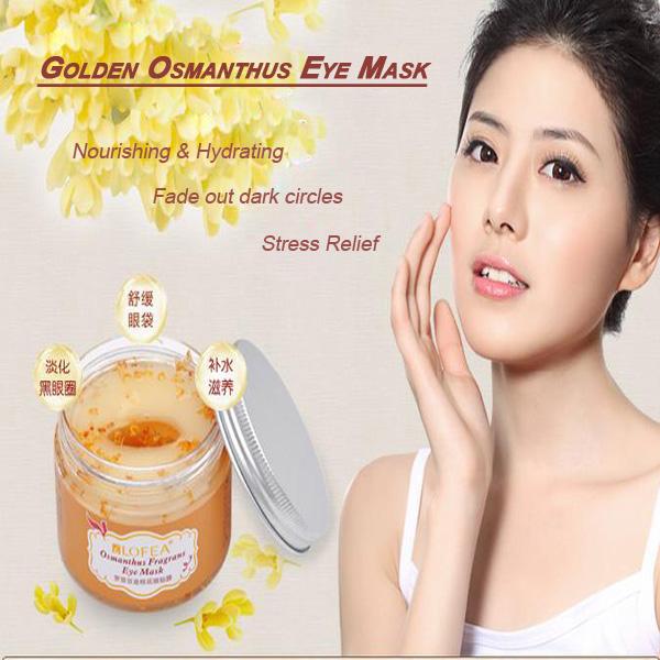 Goldene Osmanthus Anti Falten und dunklen Kreis Feuchtigkeitsspendende Augenmaske Hautpflege