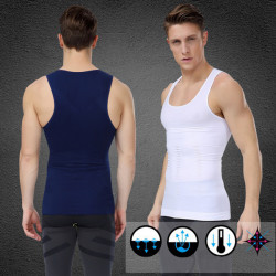 Men's Belly Slimming Body Shaper Vest Fatty Slim Shirt Corset