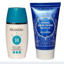 ROLANJONA Solkräm Solskyddsmedel Emulsion Bedtime Iced Ansiktsmask Hudvård Suit