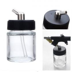 22cc AirBørste Pensel Jar Professional AirBørste Pensel Glass Flaske Pot