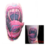 3D Bloody Mouth Waterproof Temporary Transfer Tattoo Sticker Tattoos & Body Art
