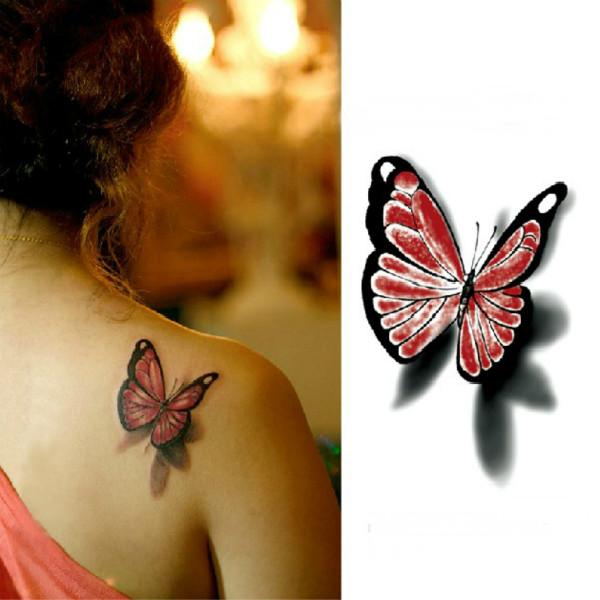 3D Butterfly Waterproof Temporary Transfer Tattoo Sticker Tattoos & Body Art