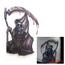3D Death Waterproof Temporary Transfer Tattoo Sticker