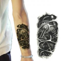 3D Machine Pattern Arm Waterproof Temporary Transfer Tattoo Sticker