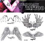 Angel Bat Wing Totem Design Waterproof Temporary Tattoo Sticker Tattoos & Body Art