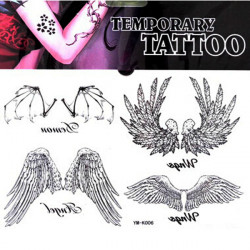 Angel Bat Wing Totem Design Waterproof Temporary Tattoo Sticker