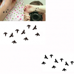 Bird Mønster Design Midlertidig Vand Transfer Tatovering Sticker