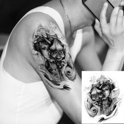 Krop Graphics Tatovering Vandtæt Midlertidig Devil Arm Tatovering Sticker