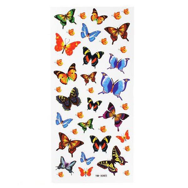 Sommerfugl Totem Insect Vandtæt Midlertidig Tatovering Sticker Paper Tatoveringer