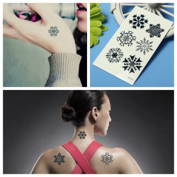 Christmas Snowflake Water Transfer Temporary Tattoo Sticker
