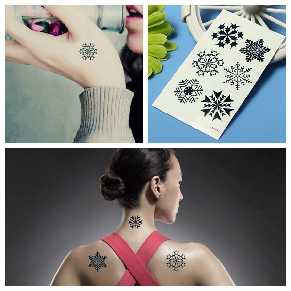 Christmas Snowflake Water Transfer Temporary Tattoo Sticker Tattoos & Body Art