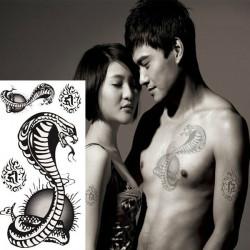 Cobra Waterproof Snake Design Temporary Tattoo Sticker Paper