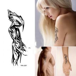 Death Design Vattentät Tillfällig Tatuering Klistermärke Papper