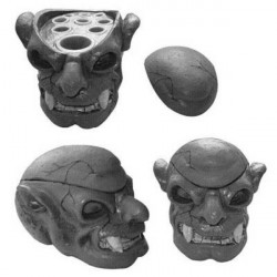 Dimgray Skull Heads Tattoo Ink Cup Stand Tattoo Supplies