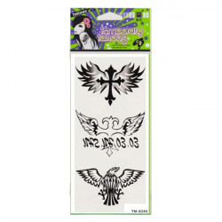 Eagle Cross Totem Design Waterproof Temporary Tattoo Sticker Paper