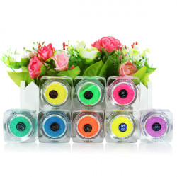 Glitter Fluorescent Pulver Nail Art Tatovering Supply