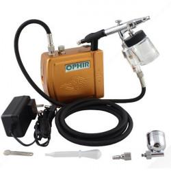 OPHIR Mini AirBørste Pensel Kompressor Turtle Pump Sæt Tatovering Negle Paint Værktøj