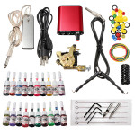 Professional Tattoo Machine 20 Colors Ink Power Supply Set Kit Tattoos & Body Art