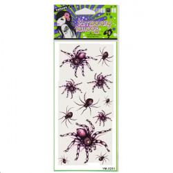 Red Spider Tattoo Design Insect Vandtæt Midlertidig Tatovering Sticker