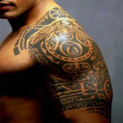 Sjal Upper Arm Tillfällig Vattentät Art Tatuering Sticker