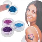Shimmer Glitter Tatoveringer Body Art Pulver Tattoo Stickers Tatoveringer