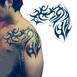 Shoulder Design Waterproof Temporary Transfer Tattoo Sticker