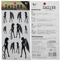 Midlertidig Angel Tatovering Transfer Body Art Sticker Vandtæt