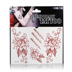 Temporary Flower Tattoo Transfer Body Art Sticker Waterproof