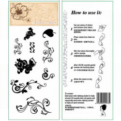 Temporäre Blumenranke Tattoo Transfer Körper Kunst Aufkleber Wasserdicht