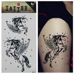 Midlertidig Horse Tatovering Transfer Body Art Sticker Vandtæt