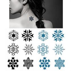 Midlertidig Snowflake Tatovering Transfer Body Art Sticker Vandtæt