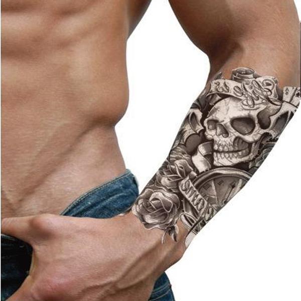 Temporary Waterproof Skull Game Tattoo Sticker Life Is Game Tattoo Tattoos & Body Art