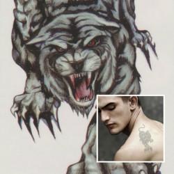 Tiger Totem Design Djur Vattentät Tillfällig Tatuering Klistermärke Papper