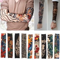 Unisex elastisches Nylon Arm Schädel Tribal Tattoo Sleeve Trumpf